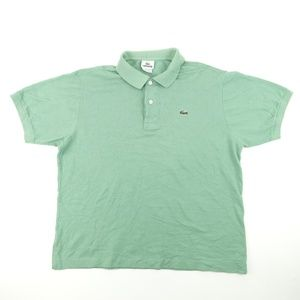 Vintage Lacoste Men Sz XL 6 Green Polo Shirt A6405